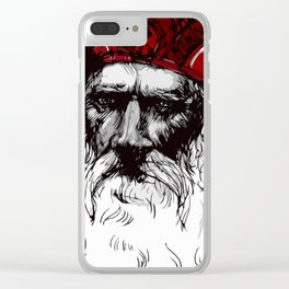 Old Saint Nick Clear iPhone Case