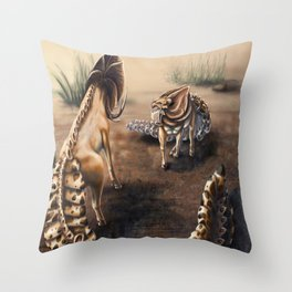 Tregko Stand Off Throw Pillow