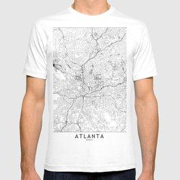 Atlanta White Map T-shirt