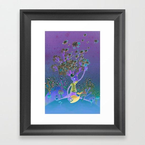 Misty mind Framed Art Print