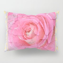 SHABBY CHIC PALE PINK  GARDEN ROSE PATTERN PINK ABSTRACT Pillow Sham