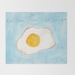 Put An Egg On It! Throw Blanket