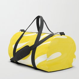 Mellow Yellow Monstera Leaves White Background #decor #society6 #buyart Duffle Bag