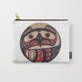 Northwest Pasific American Native Totem In Cut In Wood No. 5 Carry-All Pouch