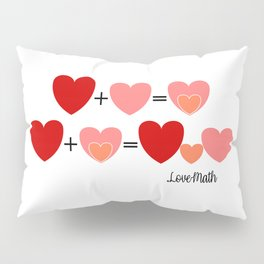 Love math, cute way to announce a pregnancy to your partner, funny baby reveal Pillow Sham