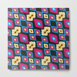 ikkat design pattern Metal Print