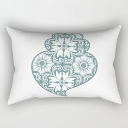 Traditionall portuguese Viana's heart and azulejo tiles background Rectangular Pillow