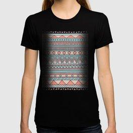 Tribal #4 (Coral/Aqua) T-shirt