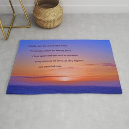 """Moonstone Beach Moment"" with poem: And Counting Rug"