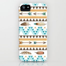 Southwest Feathers and Arrows - tribal pattern iPhone Case