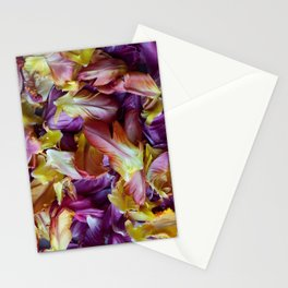 Foliage of Tulips - Mixed Colors of Tulip Leaves - Floral Collage - Close-up Photography - Colorful Print of Flowers Stationery Cards