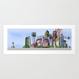 BUILDING SERIES 2 Art Print