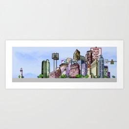 BUILDING SERIES 2 Art Print
