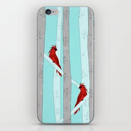 Holiday Forest Cardinals Design iPhone Skin