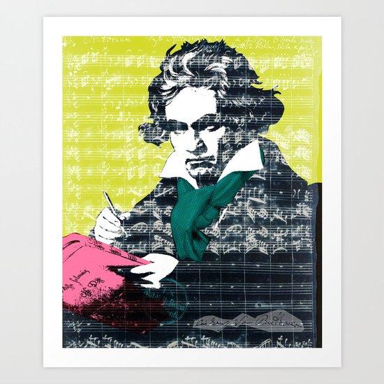 Ludwig van Beethoven 9 Art Print