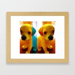 Pup Blues Framed Art Print