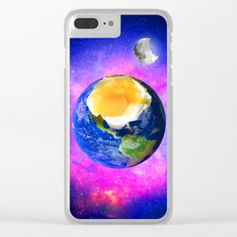 Eggstraterrestrial Clear iPhone Case
