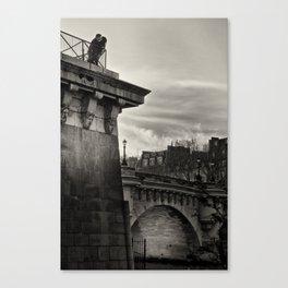 Lovers on the Bridge Canvas Print