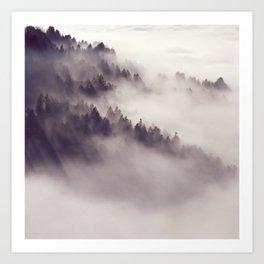 mountainside  fog Art Print