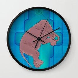 Astral Elephant Wall Clock