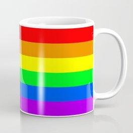 Rainbow Pride flag, Horizontal Stripes Coffee Mug