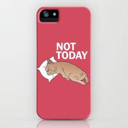 Lazy Frenchie iPhone Case