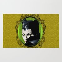 maleficent Area & Throw Rugs featuring Maleficent by Tish