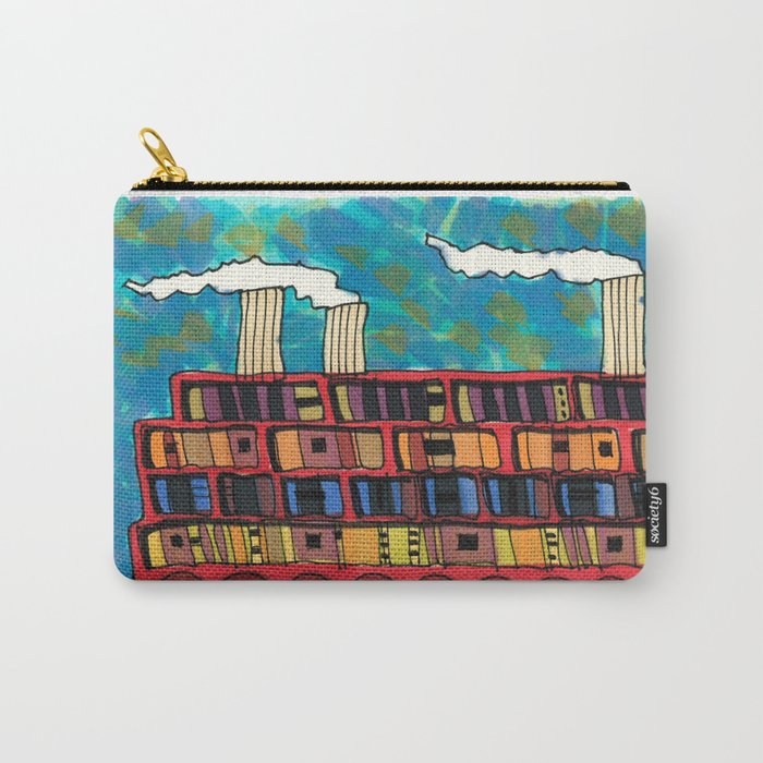 Ship at Sea Illustration 56 Carry-All Pouch