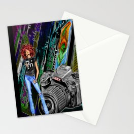 FUNKYTOWN (featuring Sancha McBurnie as a model, along with her photography work) Stationery Cards