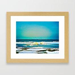 Lake Huron Winter Framed Art Print