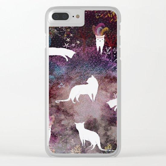 cat heaven Clear iPhone Case