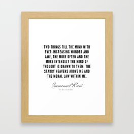 7  |  Immanuel Kant Quotes | 190810 Framed Art Print