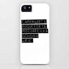 Cheese - black version iPhone Case