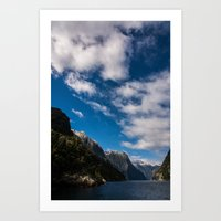 new zealand Art Prints featuring New Zealand by Michelle McConnell