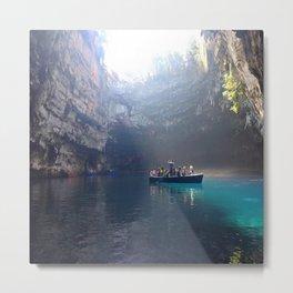 Greece Cave Metal Print