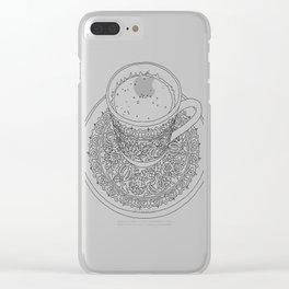 Tukish Coffee Line Art Clear iPhone Case