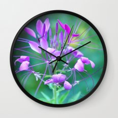 Cleome Wall Clock