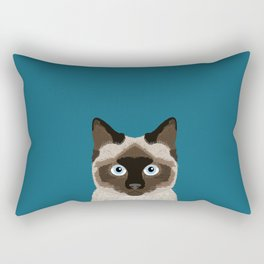 Ezra - Siamese Cat, Cute Kitten Retro Cat Art cell phone case, siamese, cute cat Rectangular Pillow