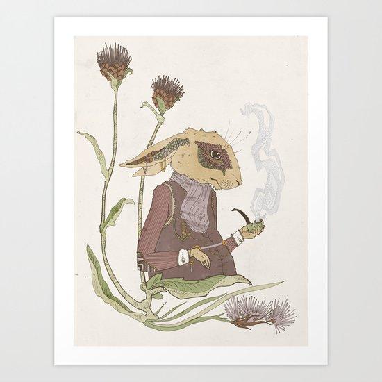 Gentleman Hare Art Print