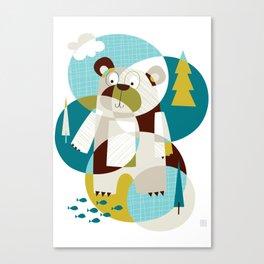 Bear Beware Canvas Print