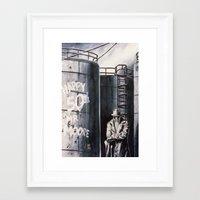 rorschach Framed Art Prints featuring Rorschach by kenmeyerjr