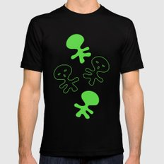Aliens-Green Mens Fitted Tee MEDIUM Black