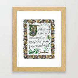 The Serenity Prayer Framed Art Print