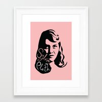 sylvia plath Framed Art Prints featuring Sylvia Plath by lucylovesthis