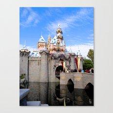 Sleeping Beauty's Holiday Castle Canvas Print