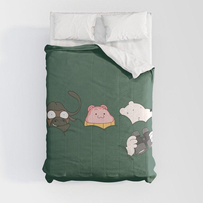 In the bush (Peepoodo) Comforters