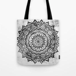 BLACK JEWEL MANDALA Tote Bag