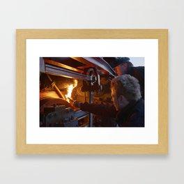 Fixed brake on a steam locomotive Framed Art Print