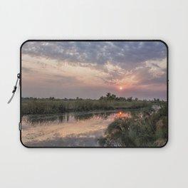 Sun Rising on the Okavango Delta Laptop Sleeve
