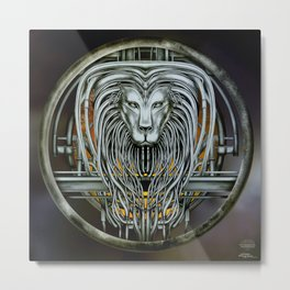 """Astrological Mechanism - Leo"" Metal Print"
